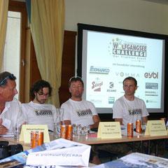 Helmut Kaufmann, Peter Lev, Roland Laimer und  Harald Prohaska,(Organisationskomiteé der Wolfgangsee Challenge)