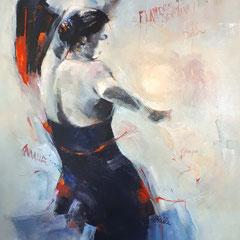 Flamenca Sevillana 100x80 cm