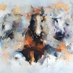 Horsepower and elegance 100x130 cm