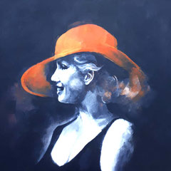 The MM girl with hat 100x80 cm