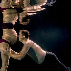 liebevolle Paare Unterwasser