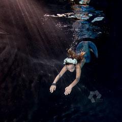 Meerjungfrauenfotos von Kindern