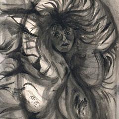 Furie...Aquarell auf Papier, 21 x 29,7 cm