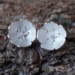 Kirschblüten Ohrstecker, 925er Silber