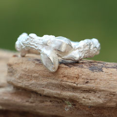 "Silberring ""Eichenast"", 925er Silber"