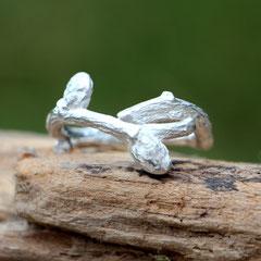 """Silberring """"Knospen"""", 925er Silber"""