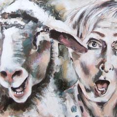 Die Schafe und ich, 50/150 cm, 2014