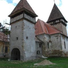 Kleiner Turm während der Renovierung