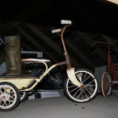Tricycle tôle enfant avec benne