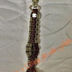 walnutbrown / gold diamonds mit Kleeblattperle