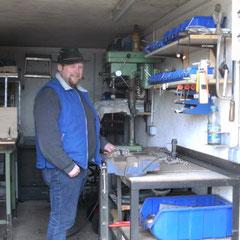 Alois Achatz Werkstatt in Aktion