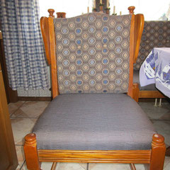 Eiche Stuhl neu beziehen