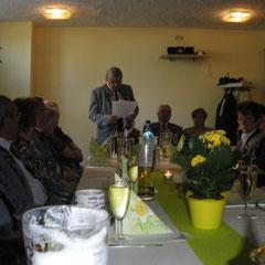 Kommandant Christian Brocksch gab einen Rückblick auf die 25 Jahre Vereinsgeschichte