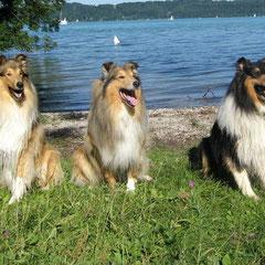 Lennox (li.) mit Indigo und Jeffrey, seinem Onkel