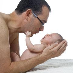 papa in action...und das baby erst!