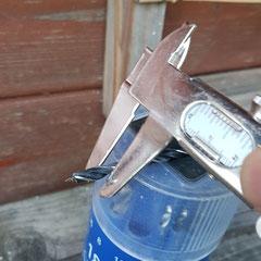 On sélectionne une mèche du même diamètre que le tuyau