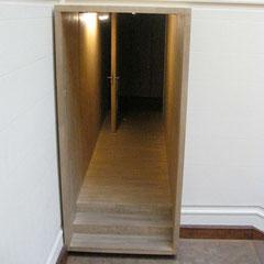 l'entrée des toilettes