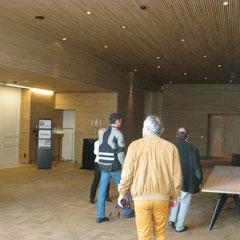 beaucoup de bois ont été utilisés à l'intérieur