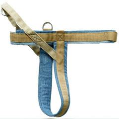 Norweger-Geschirr aus Jeans und Gurtband