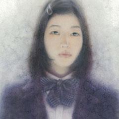 「髪留の少女」2017/06/08(F4 パステル/紙)