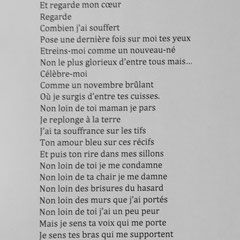 Poème de Tom Derhy