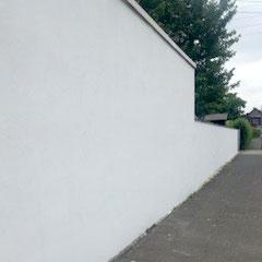Graffiti von Fassade entfernt