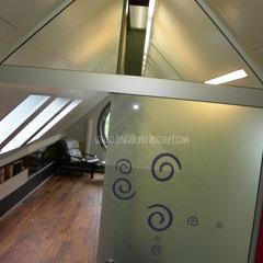 Glas-Abtrennung Dachgeschoss
