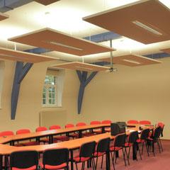 Luminaires dans salle de réunion