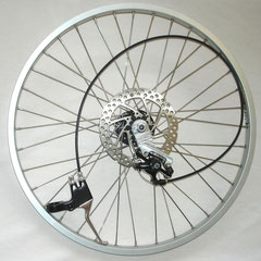 """24"""" inch Replacement Front wheel w/ Disc Brake system [complete]"""