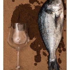 Fisch mit Glas