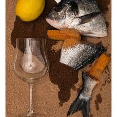 zerteilter Fisch
