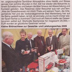 Bericht im Wäller Blättchen vom 09.10.09