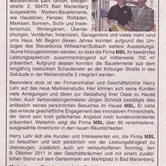 Bericht im Wäller Blättchen vom 07.10.11