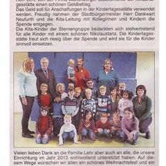 Bericht im Wäller Blättchen vom 20.12.13