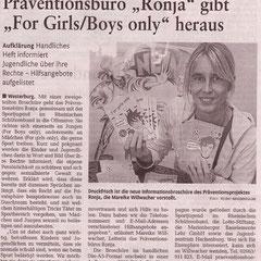 Bericht in der Rhein-Zeitung vom 01.02.11