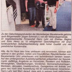 Bericht im Wäller Blättchen vom 18.06.10