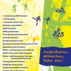 """Folder """"Markt der Vereine"""" Bruchsal"""