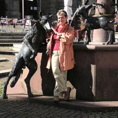 Wolf mit Brigitte