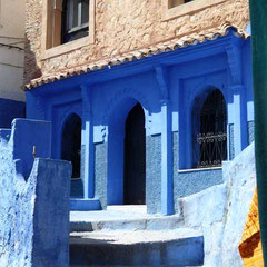 Die blauen andalusisch angehauchten Häuser von Chefchaouen