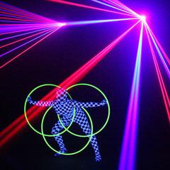 Lasershow in Berlin - Fantômes de Flammes