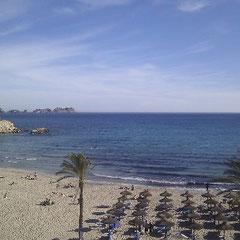 Blick auf die Palmira-Bucht in Paguera)