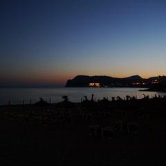 Romana-Beach nach Sonnenuntergang