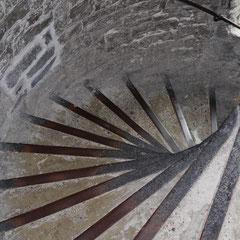 Treppenaufgang im Belfried