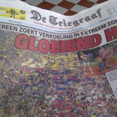 Zeitung De Telegraaf am 20.08.12: Glühende Hitze