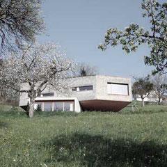 Einfamilienhaus, offenes Wohnkonzept, low-budget  ©2019 Welte Architektur