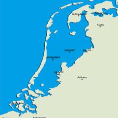 Les pays-Bas sous le niveau de la mer