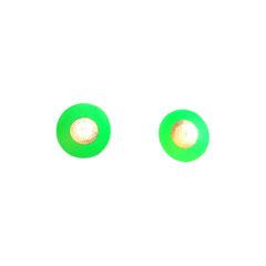 Aurélie Lejeune - boucle fleur vert  - porcelaine froide - tige argent oxidé - existe en plusieurs couleurs
