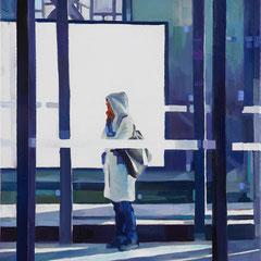 Felix Eckardt Girl in winter light 2011 Öl auf Leinwand 50 x 40 cm