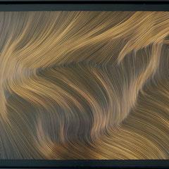 John Franzen Each line one breath 2017 Radierung auf Aluminium 80 x 120 cm