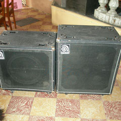 Ampeg 115 and 410HE, the 410 is flightcased